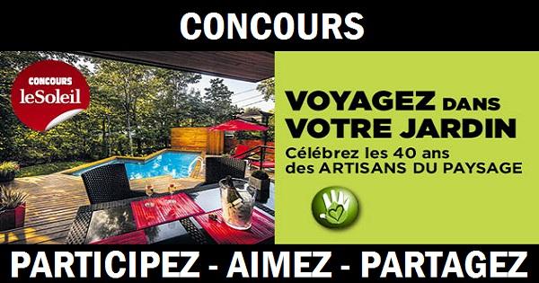 Concours voyagez dans votre jardin for Prix entretien espace vert m2