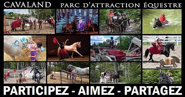 Concours Gagnez des forfaits famille pour le parc d'attraction équestre Cavaland!