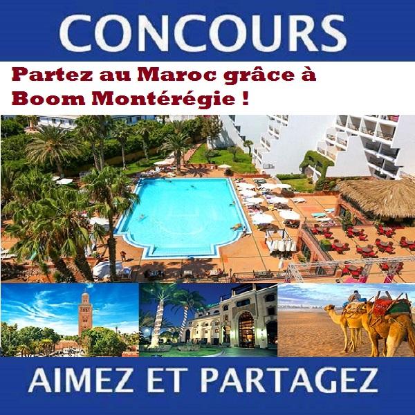 Concours Partez au Maroc grâce à Boom Montérégie!