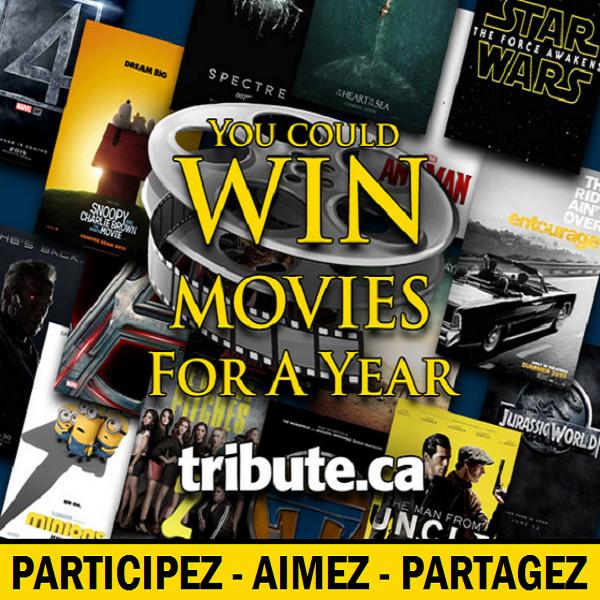 Concours Gagnez des billets de cinéma pour un an!
