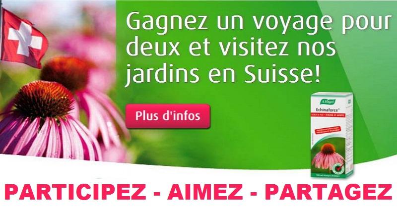 Concours Gagnez un voyage pour 2 en Suisse!
