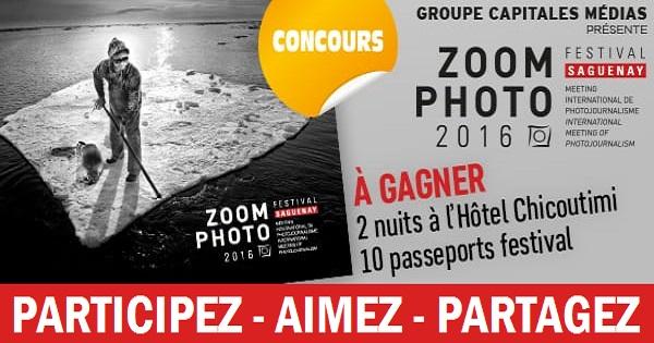 Concours Gagnez 2 nuits à l'hôtel Chicoutimi pour assister au festival Zoom Photo!