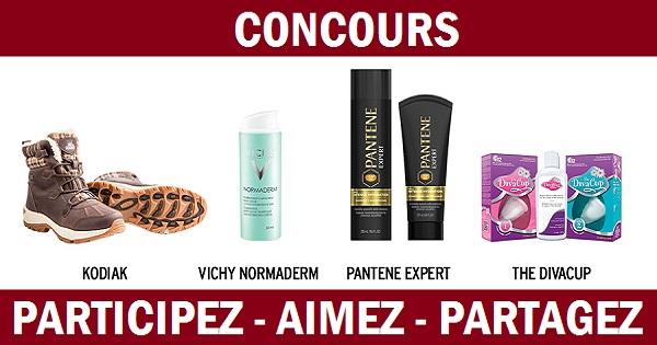 Concours Gagnez un ensemble beauté comprenant des produits Kodiak, Vichy, Pantene et The DivaCup!