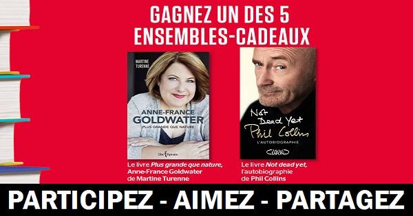 Concours Gagnez un ensemble comprenant le livre Plus grande que nature, Anne-France Goldwater de Martine Turenne et le livre Not dead yet!