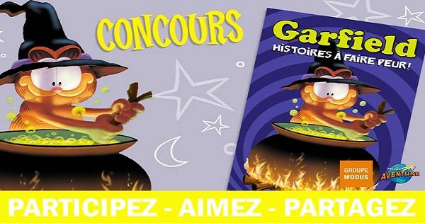 Concours Gagnez le livre Garfield, Histoires à faire peur publié chez Modus!