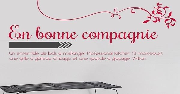 concours gagnez un joli ensemble d accessoires de pr paration pour cuisiner concours en ligne. Black Bedroom Furniture Sets. Home Design Ideas