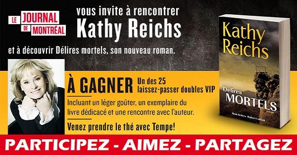 Concours Rencontrez l'auteure Kathy Reichs!