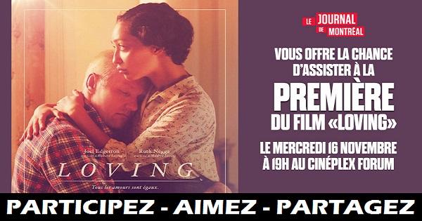 Concours Assistez à la première du film Loving!