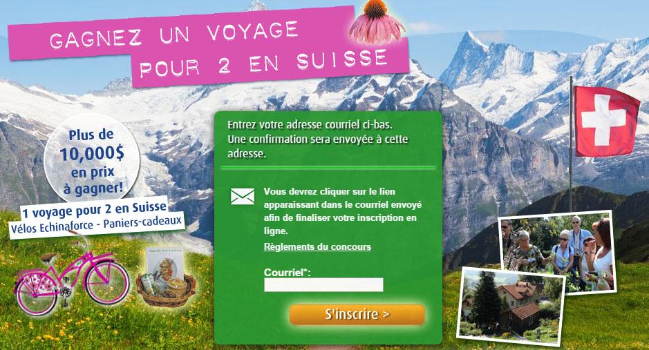Concours Gagnez un Voyage pour 2 en Suisse