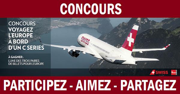 Concours Gagnez l'un des 3 voyages en Europe pour deux personnes!