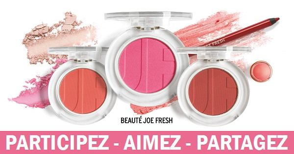 Concours Gagnez tous vos essentiels maquillage de Beauté Joe Fresh!