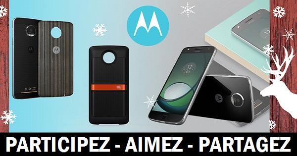 Concours Gagnez un Moto Z Play, un étui et un haut-parleur qui se fixe sur le téléphone!