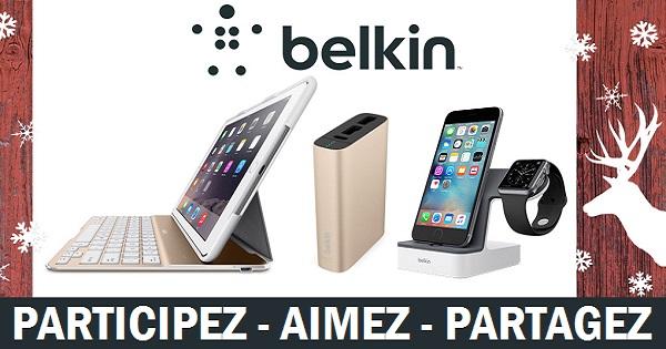 Concours Gagnez un trio d'accessoires Belkin pour votre iPhone, iPad et Apple Watch!