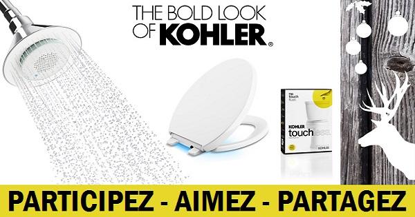 Concours Gagnez des gadgets Kohler pour salle de bain dont une pomme de douche dotée d'un haut-parleur!
