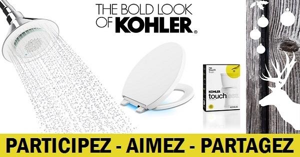 concours gagnez des gadgets kohler pour salle de bain dont une pomme de douche dot e d un haut. Black Bedroom Furniture Sets. Home Design Ideas