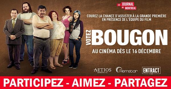 Concours Assistez à la première du film Votez Bougon!