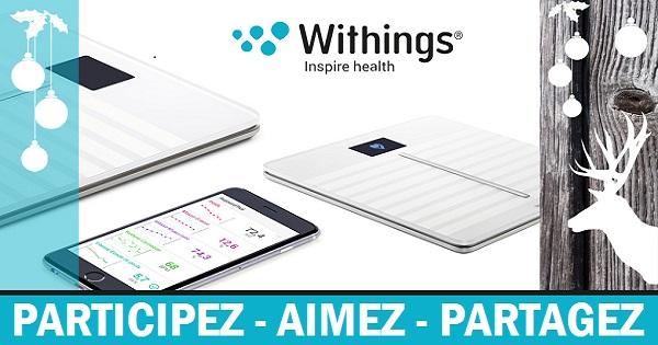 Concours Gagnez la balance connectée de Withings qui évalue votre santé cardiovasculaire!