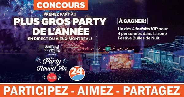 Concours Assistez au plus gros Party du Nouvel An de Montréal en fêtes!