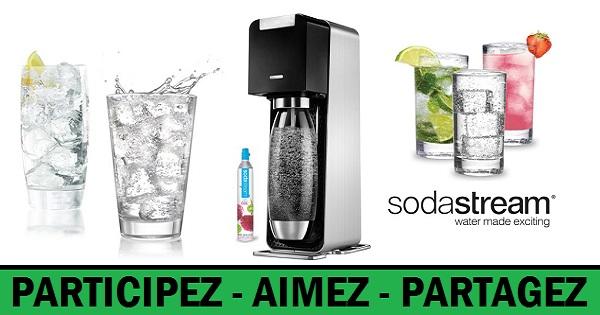 Concours Gagnez une machine SodaStream Power afin de créer votre propre eau gazeuse!