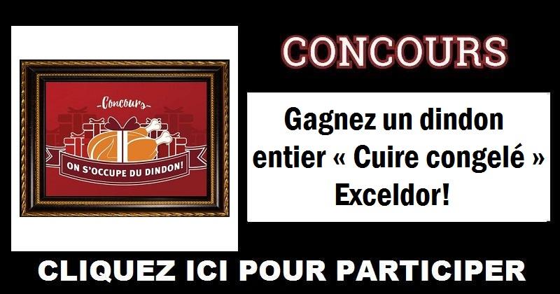 Concours Gagnez un dindon entier « Cuire congelé » Exceldor!