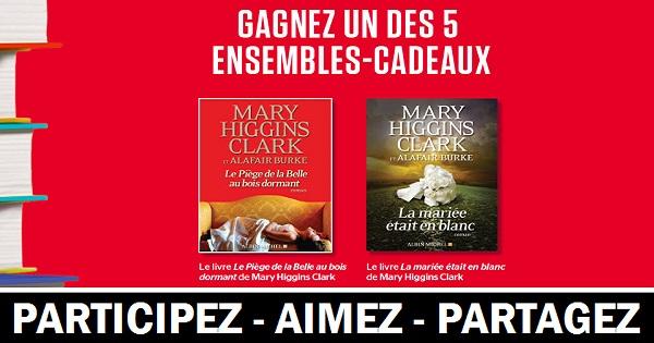 Concours Gagnez un ensemble comprenant les livres Le Piège de la Belle au bois dormant et La mariée était en blanc de Mary Higgings Clark!