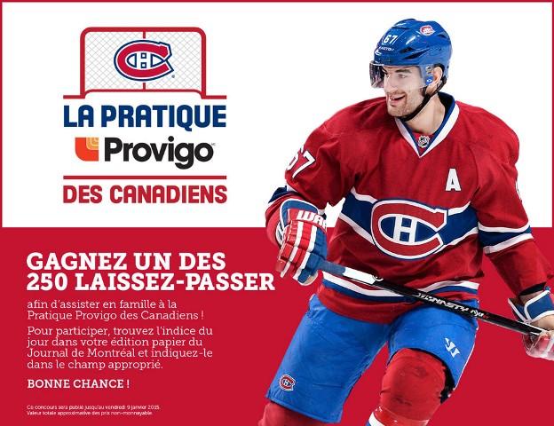 Concours LA PRATIQUE DES CANADIENS