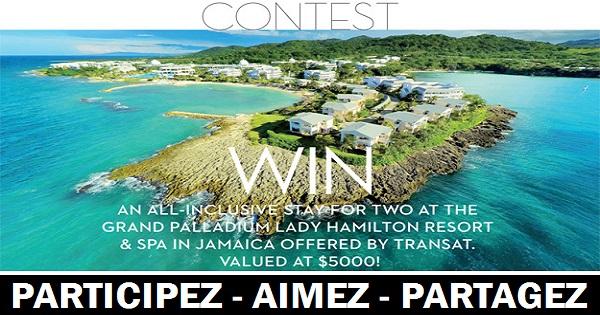Concours Gagnez votre lune de miel en Jamaïque avec Transat!