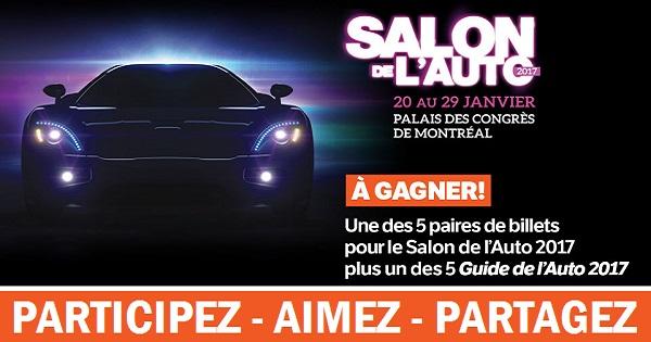Concours Gagnez un laissez-passer double pour le Salon de l'Auto 2017!