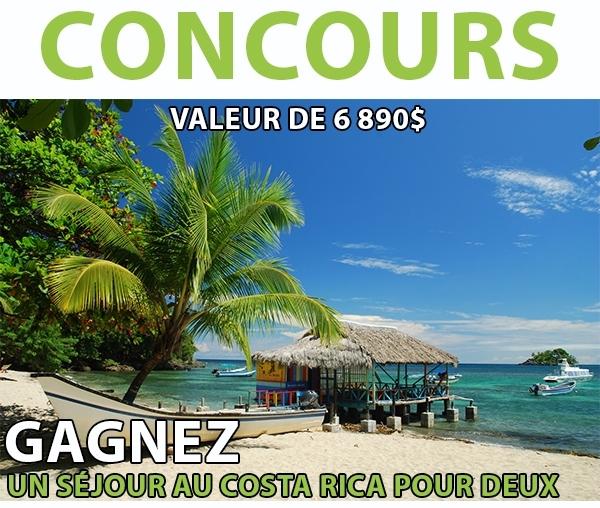 Concours Gagnez un séjour au Costa Rica!