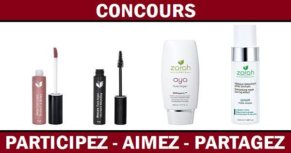 Concours Gagnez un ensemble de produits Zorah Biocosmétiques!
