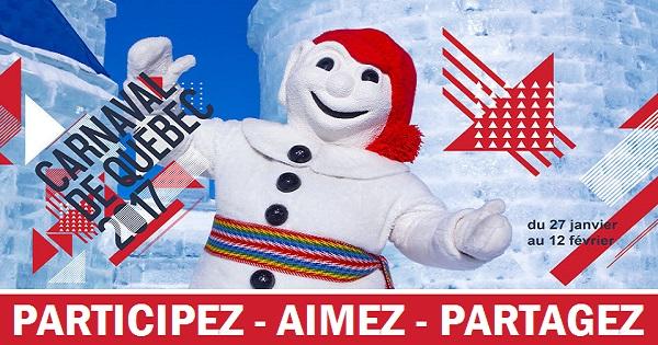 Concours Gagnez 1 forfait Carnaval de Québec pour 4 personnes!