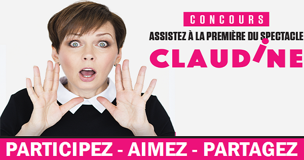 Concours Gagnez une paire de billets pour le spectacle de Claudine Mercier!