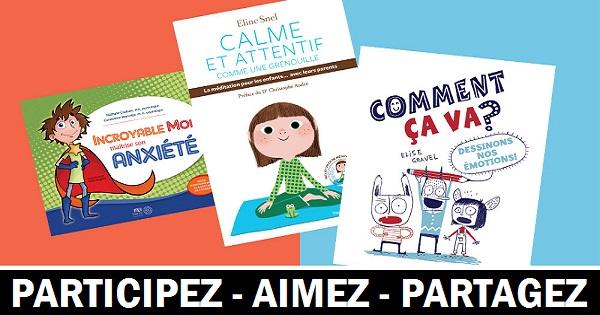 Concours Gagnez un trio de livres et une affiche pour enfants!