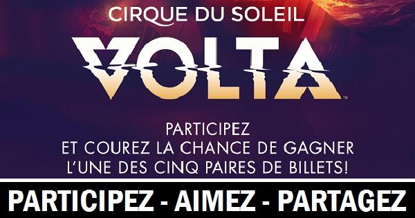 Concours Voyez le spectacle Volta du Cirque du Soleil!