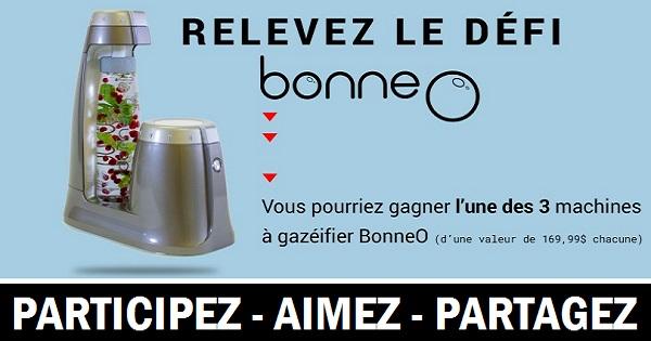 Concours Gagnez une machine à gazéifier BonneO!