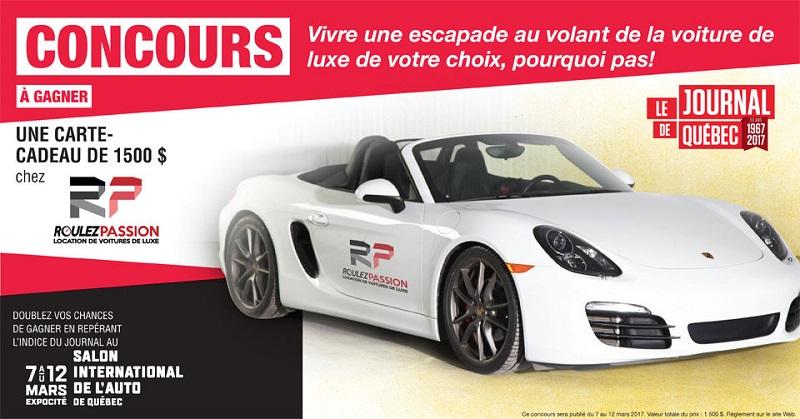 Concours Gagnez une escapade au volant de la voiture de luxe de votre choix!