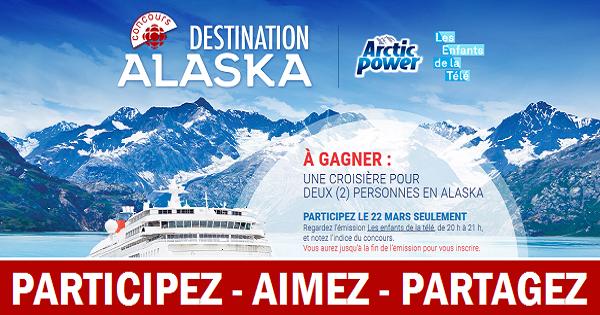 Concours Gagnez une croisière pour deux en Alaska!