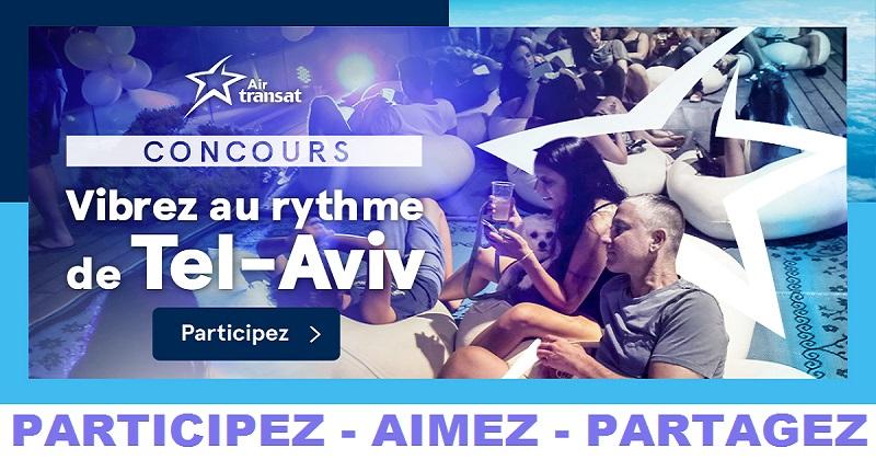 Concours Gagnez un vol aller-retour vers l'effervescente métropole d'Israël pour deux personnes!