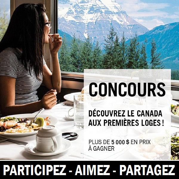 Concours Gagnez un voyage unique en train vers l'Ouest canadien pour deux personnes avec VIA Rail Canada!