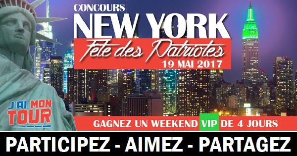 Concours Gagnez un weekend pour 2 personnes à New York en formule panoramique VIP!