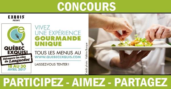 Concours Gagnez une expérience gourmande unique!
