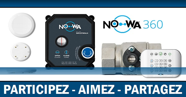 Concours Gagnez le Nowa 360 pour éviter les dégâts d'eau!